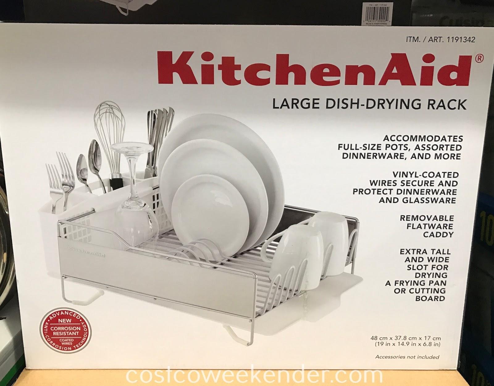 Dry and protect your precious dinnerware with the KitchenAid Large Dish-Drying Rack