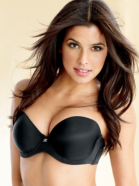 black plus size strapless bra models home a black plus size models ...