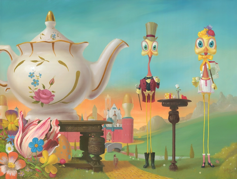 11-Tea-Time-Geoffrey-Gersten-Surreal-and-Retro-Paintings-in-Modern-Times-www-designstack-co