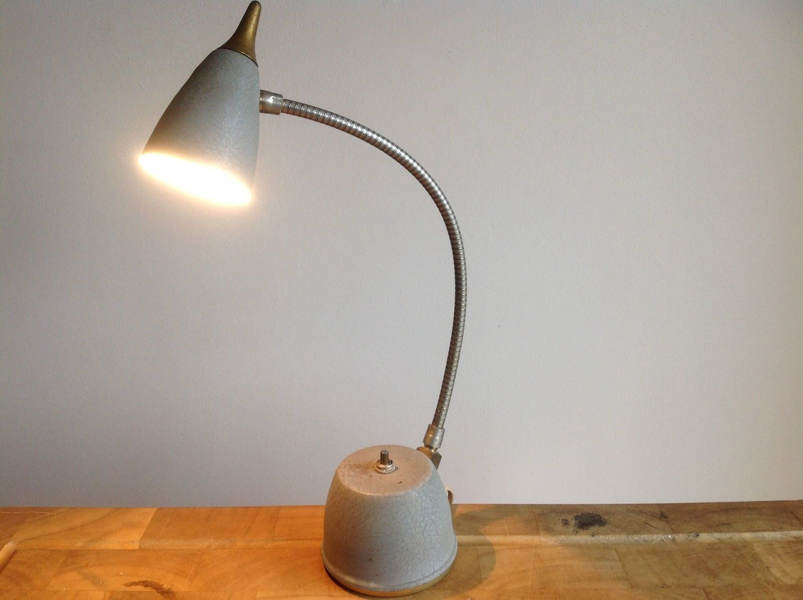 Vintage 50s Articulated Lamp Enamel Italian Gooseneck Desk Lamp – Gooseneck Desk Lamps