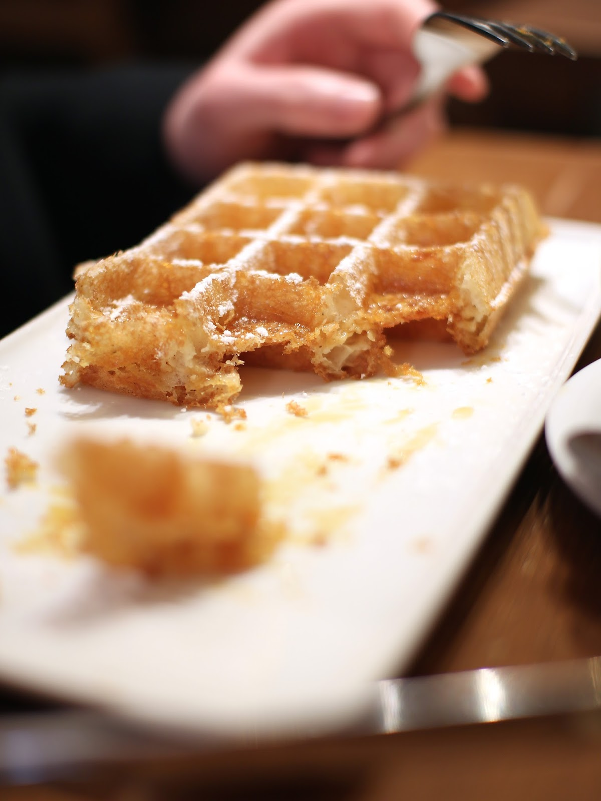 delcious crispy waffle treats in belgium
