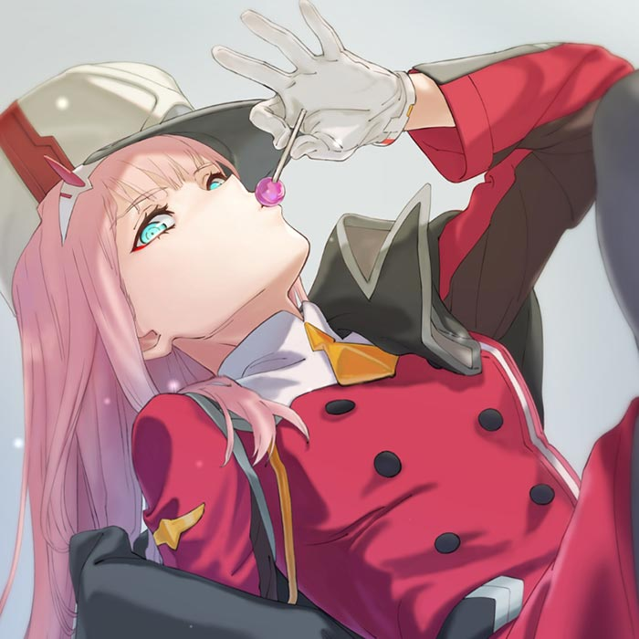 Zero Two Lolipop Darling In The Franxx Animated Wallpaper