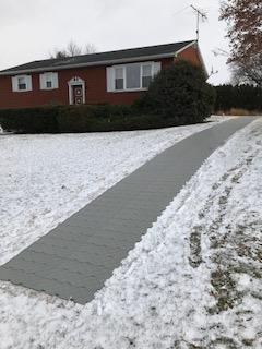 Greatmats temporary sidewalk in winter