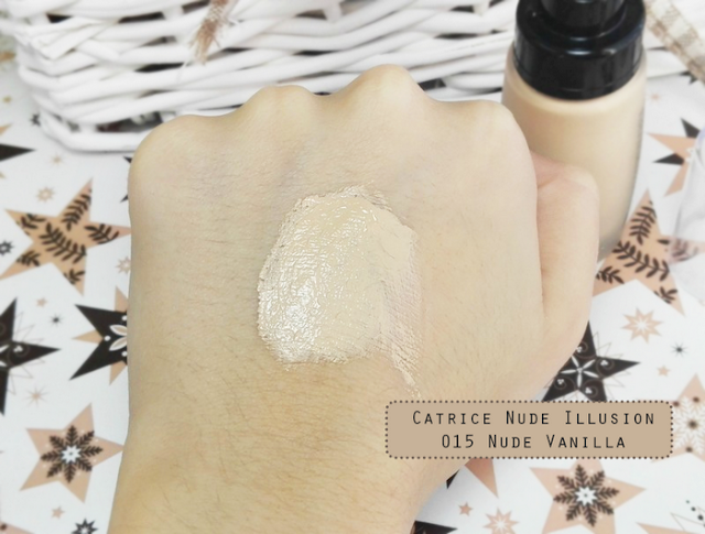 Catrice Nude Illusion Foundation 015 Nude Vanilla Swatch