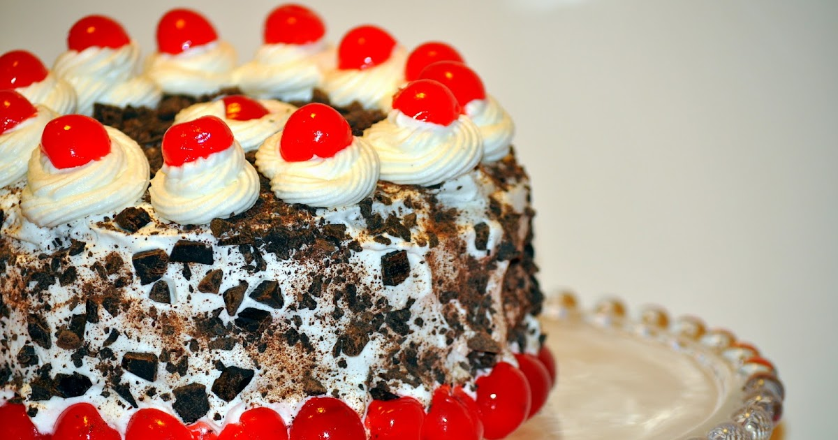 Chocolate Cherry Sponge Cake