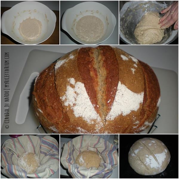 Pane con farina di ceci e rosmarino con lievito madre