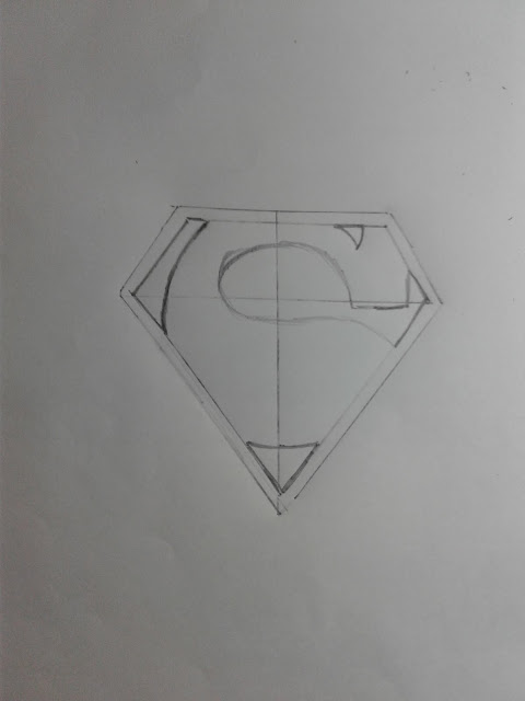 How to Draw a Superman Logo step by step