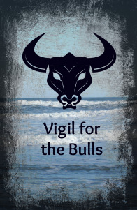 cover art for Vigil of The Bulls by Jolene Dawe, pagan essays, Greek Mythology