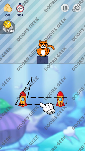 Hello Cats Level 128 Solution, Cheats, Walkthrough 3 Stars for Android and iOS