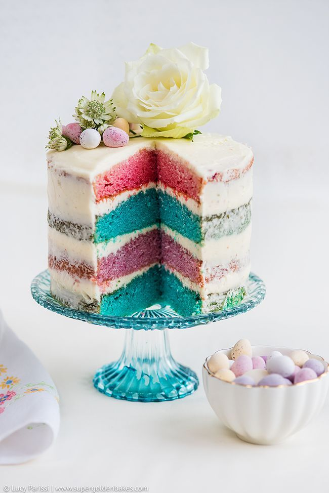 beautiful rainbow cake