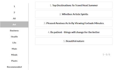 Blogger html карта сайта с навигацией