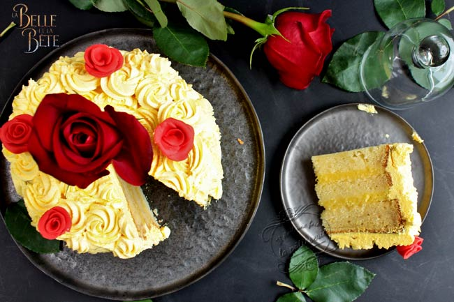 gateau belle rose