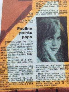 Pauline Boty, the Daily Express