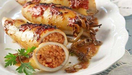 De vinos y gastronomia va la cosa calamares rellenos for Cocinar calamares pequenos