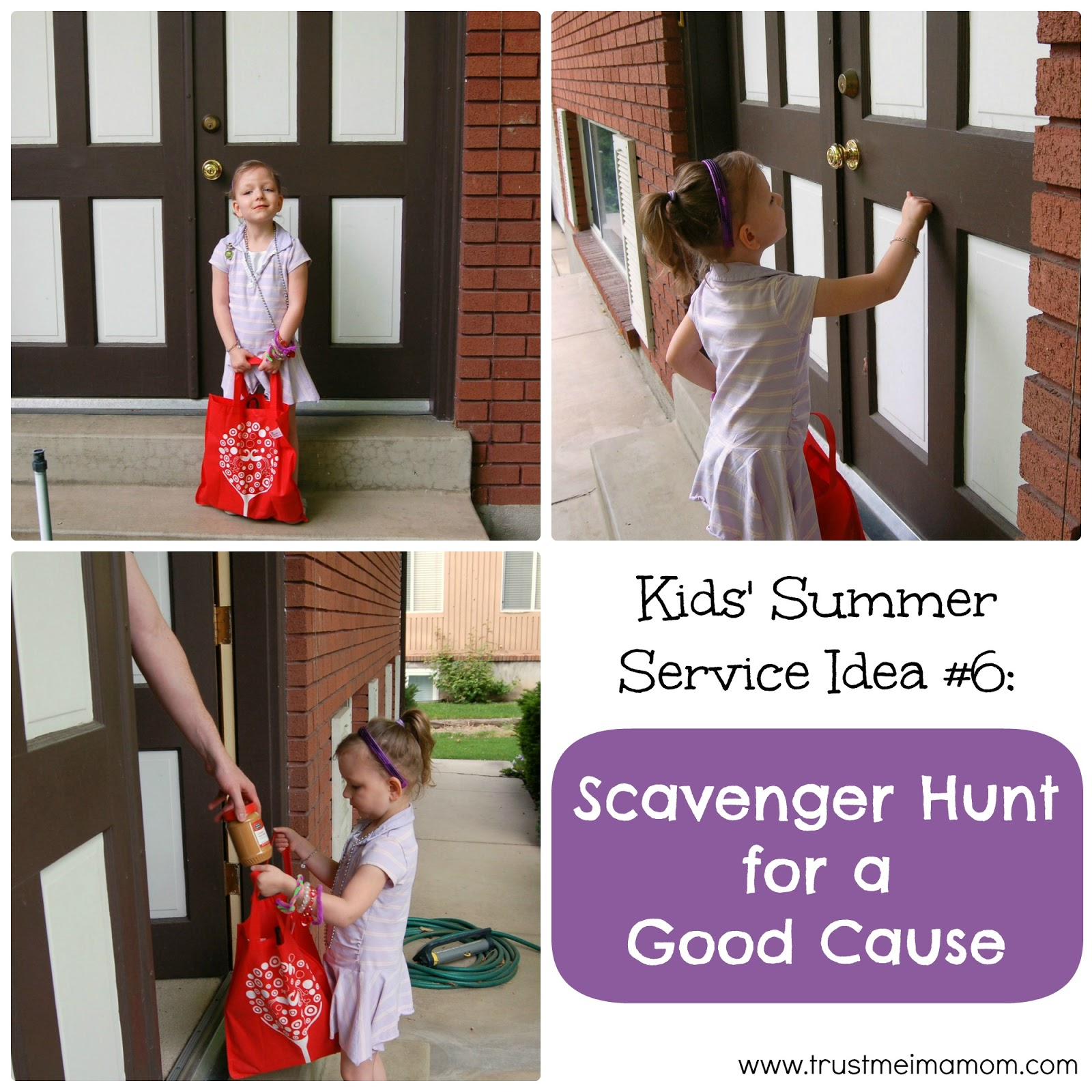 Fun Ways to Serve with Your Kids This Summer: Idea #6 - Have a scavenger hunt to find food to donate to your local food bank!