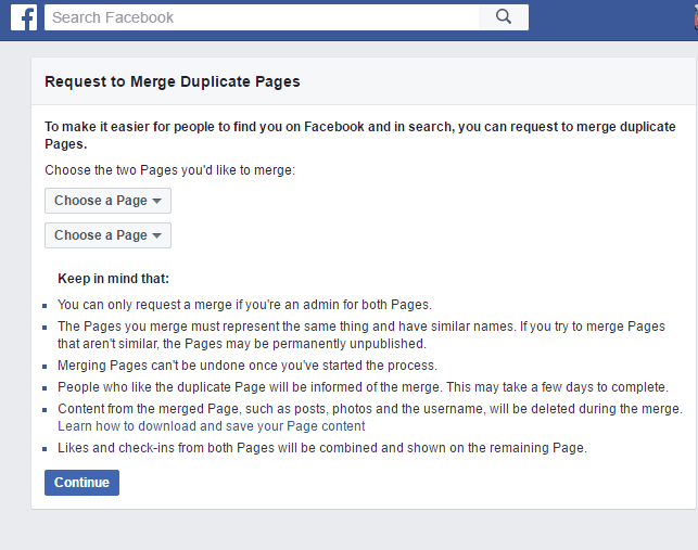 How To Merge Facebook Pages Together - 2016 (Latest)