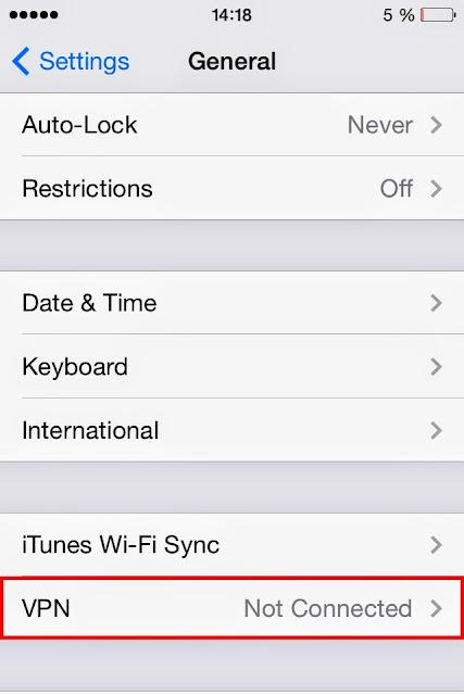 Cara Setting Pengaturan Internet VPN iOS