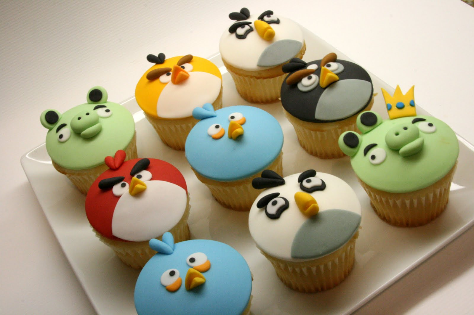 Beautiful Kitchen Angry Birds Inspired Cup Cake For