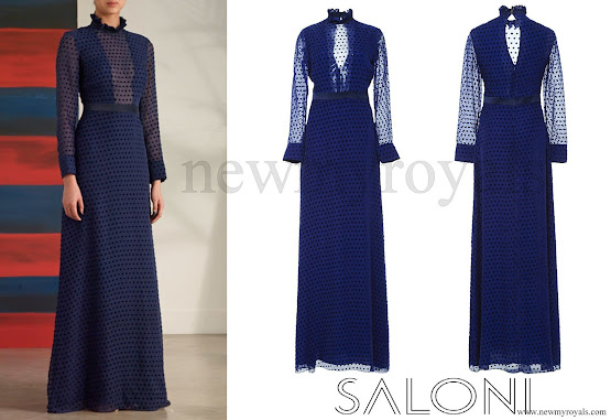Kate Middleton wore SALONI Mary Illusion Dot Dress