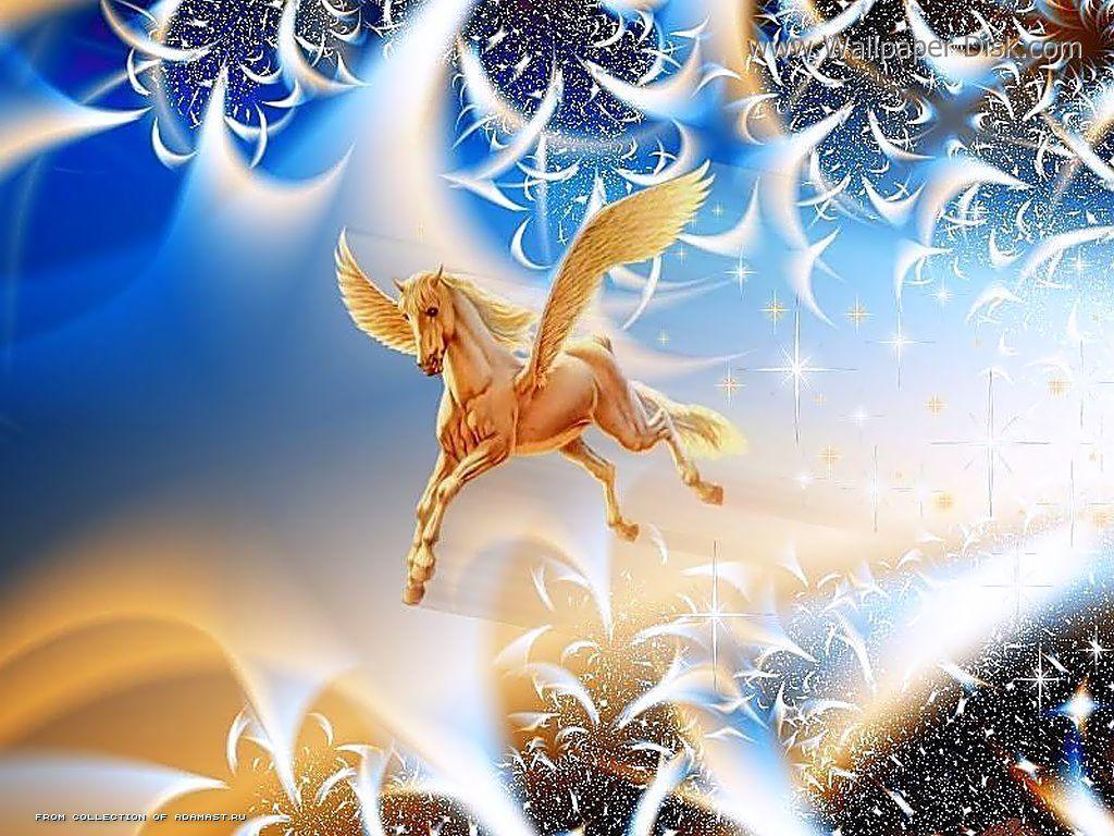 Animated Barbie Wallpaper Flying Horse Wallpapers Desktop Wallpapers