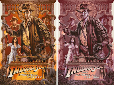 "Indiana Jones and the Raiders of the Lost Ark ""Finding the Ark"" Screen Print by Chris Weston x Bottleneck Gallery"