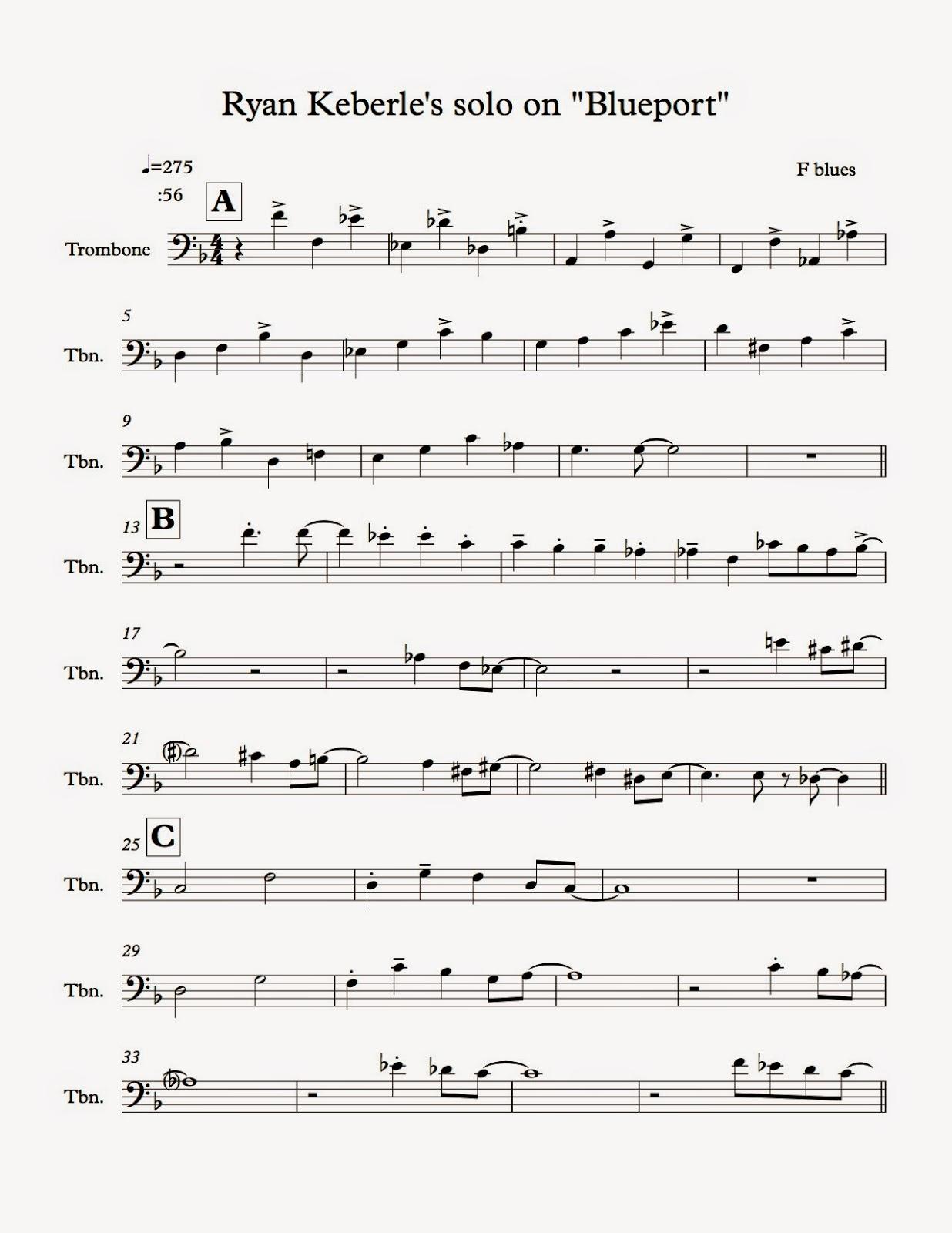Wits Untied : Trombone Transcription I: Ryan Keberle
