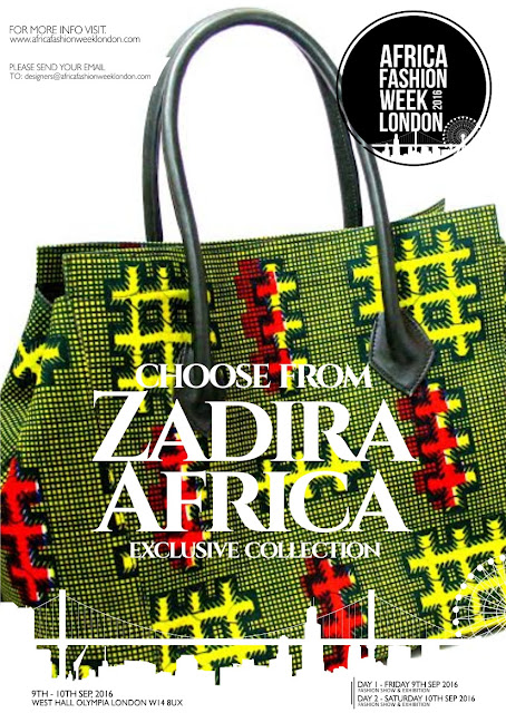 Zadira Africa  to showcase at Africa Fashion Week London 2016