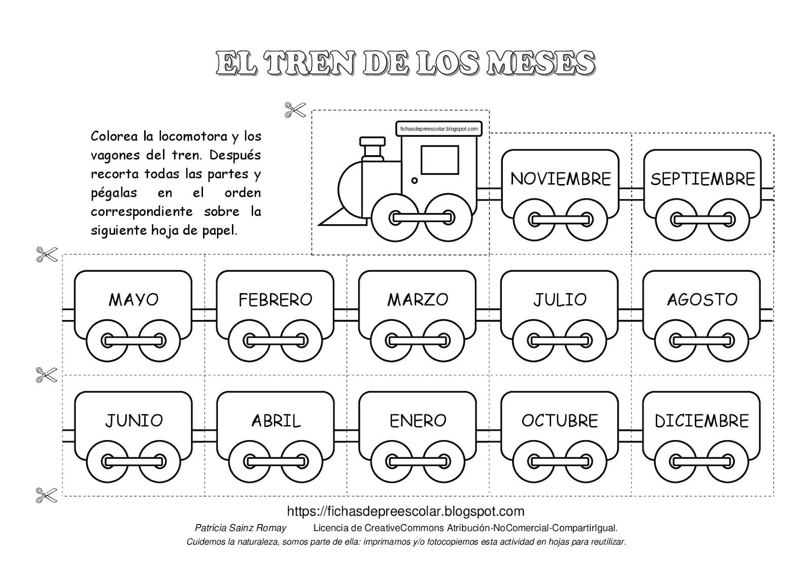 Fichas De Educación Preescolar Nueva Versión Del Tren De