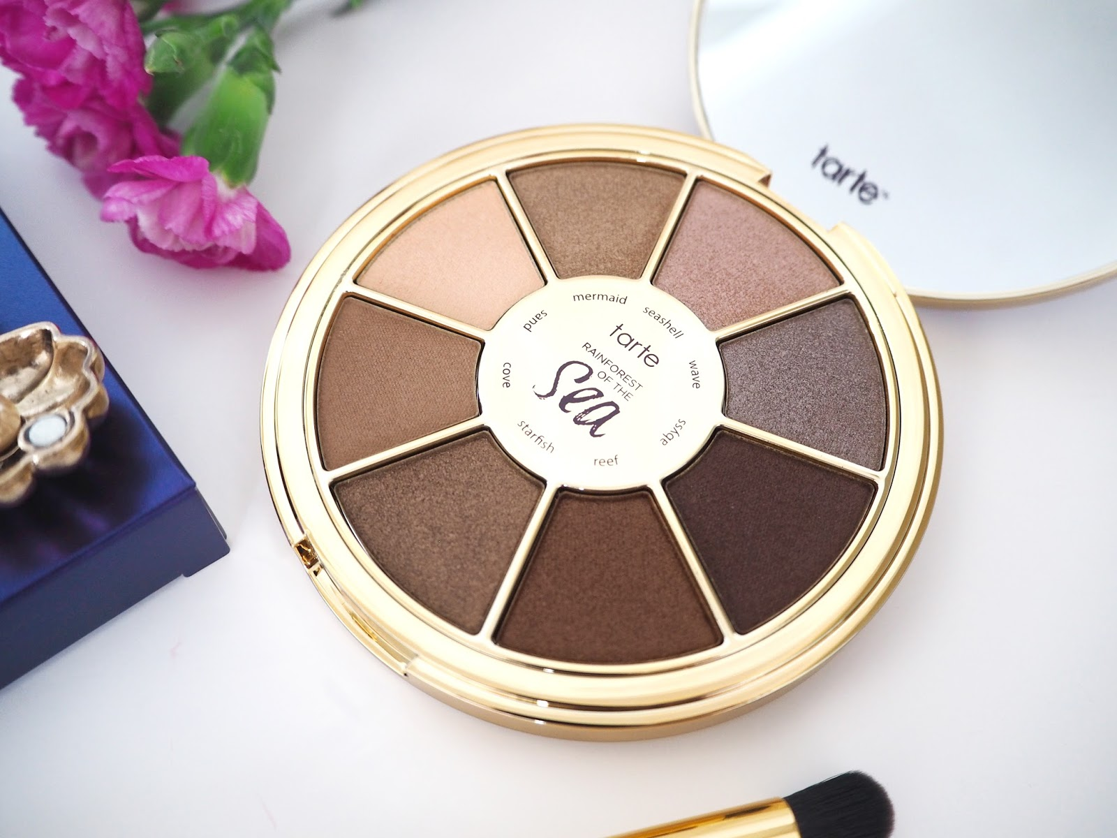Tarte Rainforest of the Sea Shadow Palette, Tarte Cosmetics, Eye Shadow Palette, Loves List: August | Katie Kirk Loves