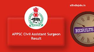 APPSC Civil Assistant Surgeon Result