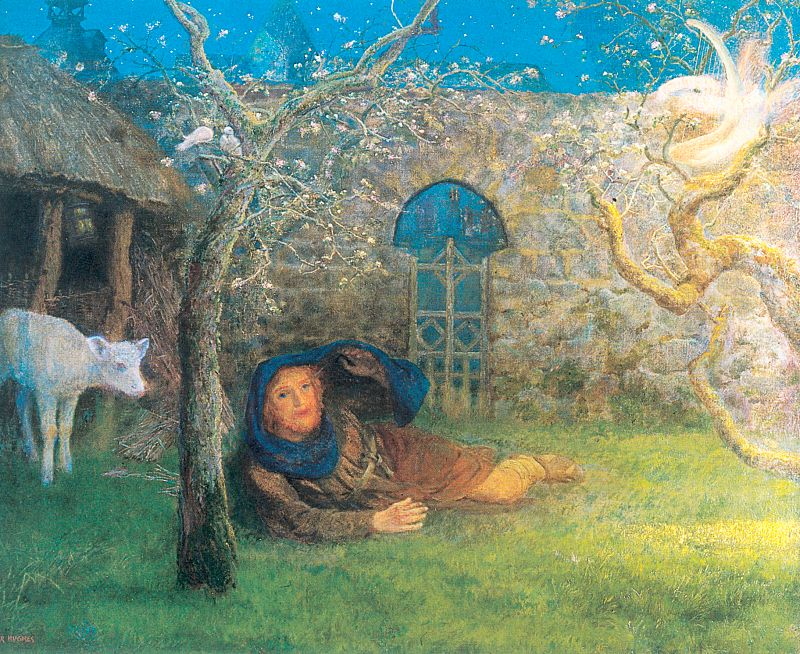 Arthur Hughes 1832-1915 | British Pre-Raphaelite painter and illustrator