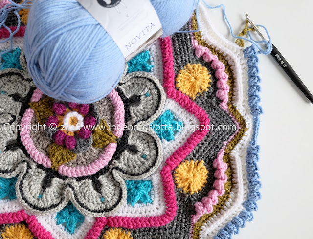 Mandala madness CAL 2016 part 4 crochet