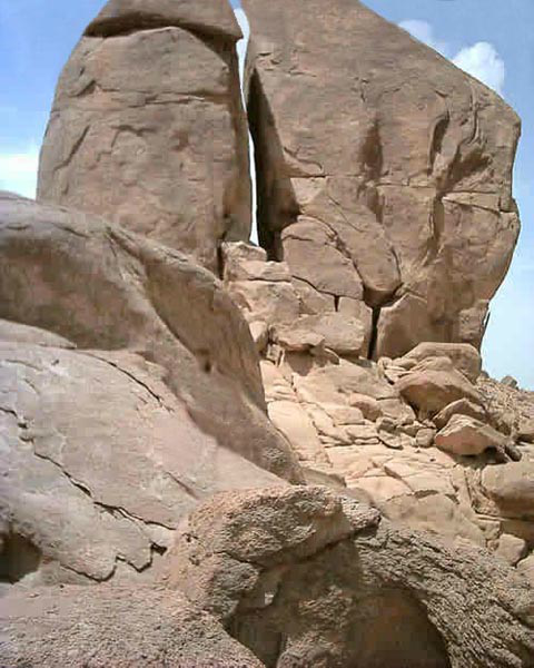 Discovered The Split Rock as told in Exodus 17:5.