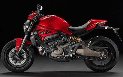 Ducati Monster 821 side view profile