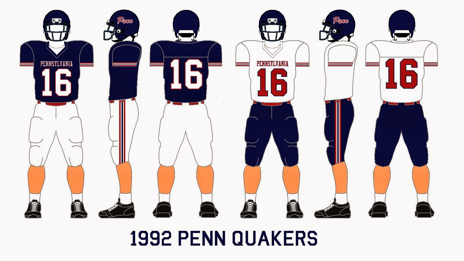 reputable site fe300 3d3ae Gridiron Garb: Penn Quakers (1992-94)