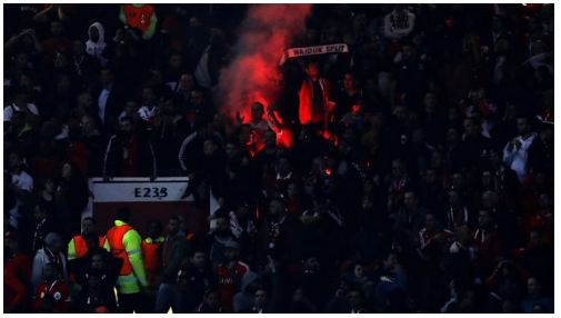 Benfica Charged By UEFA Over Fireworks At Old Trafford