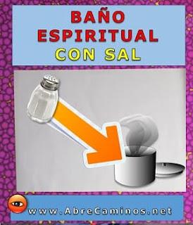 Baño espiritual con sal para suerte y abrir los caminos