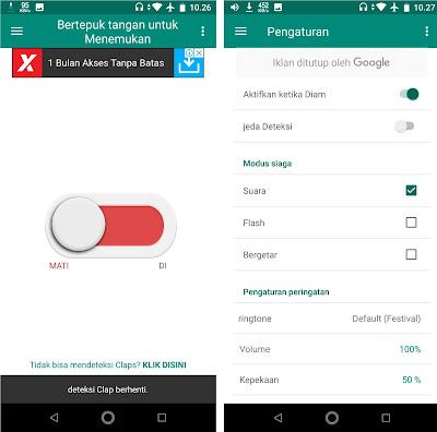 Untuk menonaktifkan aplikasi, Sobat tinggal atur switchnya ke mode mati. Sobat juga bisa mengatur Modus Siaga dan kepekaan suara di menu pengaturan.