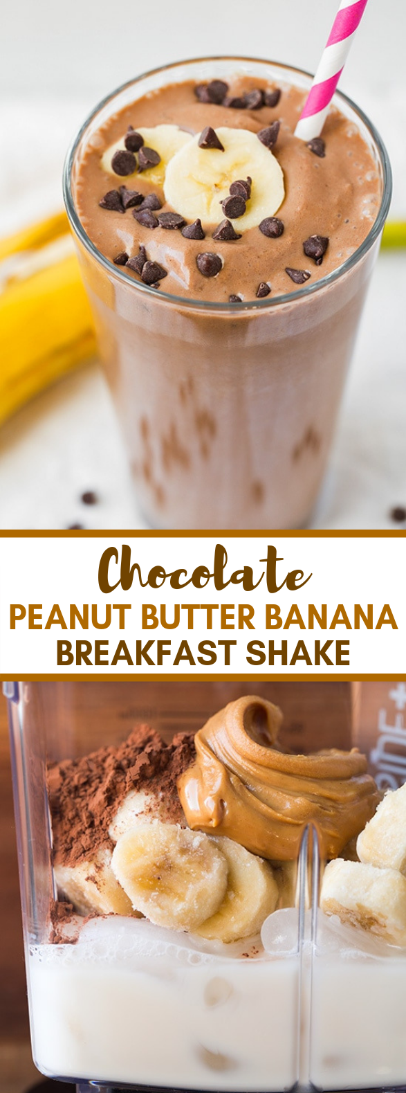 Chocolate Peanut Butter Banana Shake