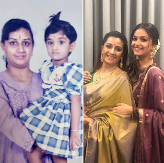 Mana Keerthy Suresh: Keerthy Suresh Wishing Happy Mothers Day to Her Mother