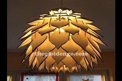 Thế Giới Đèn Gỗ - Đèn gỗ trang trí hoa thược dược thì thích hợp ở phòng ngủ