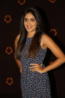 Actress Dhanya Balakrishna Stills in Floral Short Dress at Savitri Audio Launch  0010