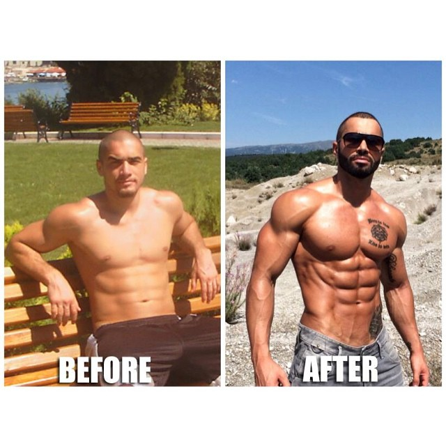 Lazar Angelov Before And After Photos on abdominals exercises
