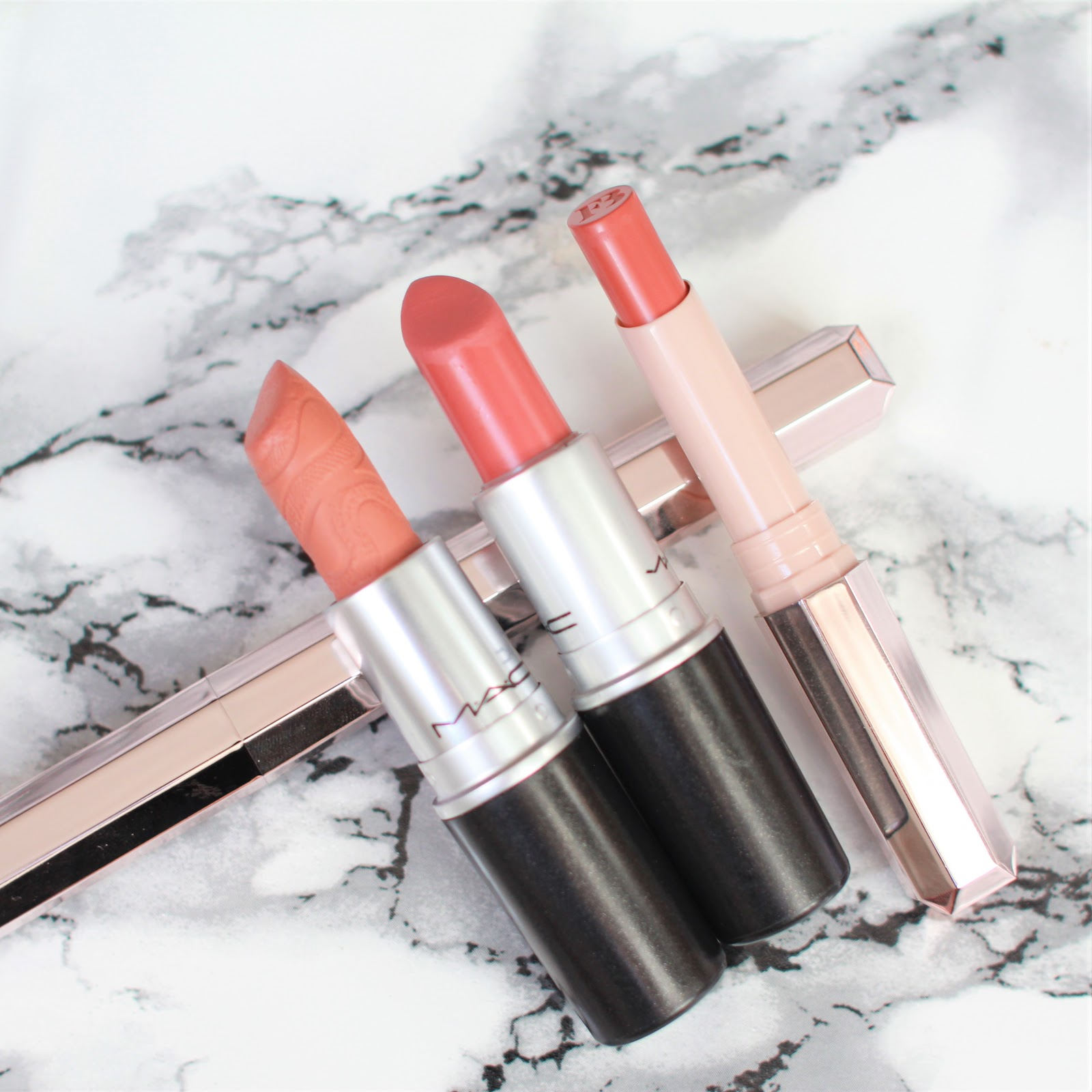 Fenty Beauty Spanked S1ngle Lipsticks NC30 review swatches