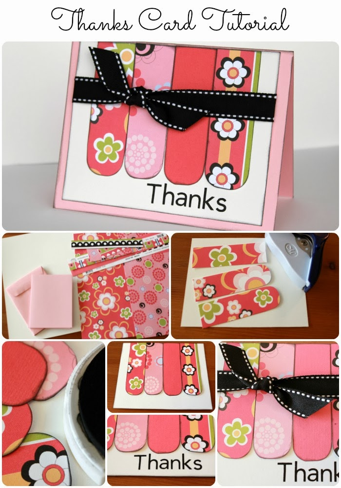 Thanks Card Tutorial from www.foodcraftsandfamily.com