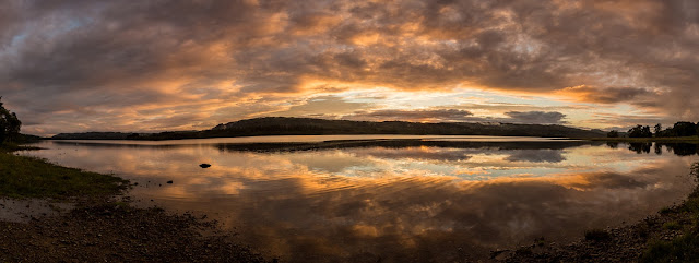 Photo of a sunset over Loch Awe