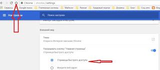 Страница быстрого доступа в браузере Google Chrome