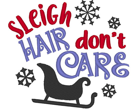 Sleigh hair don't care, winter embroidery designs!