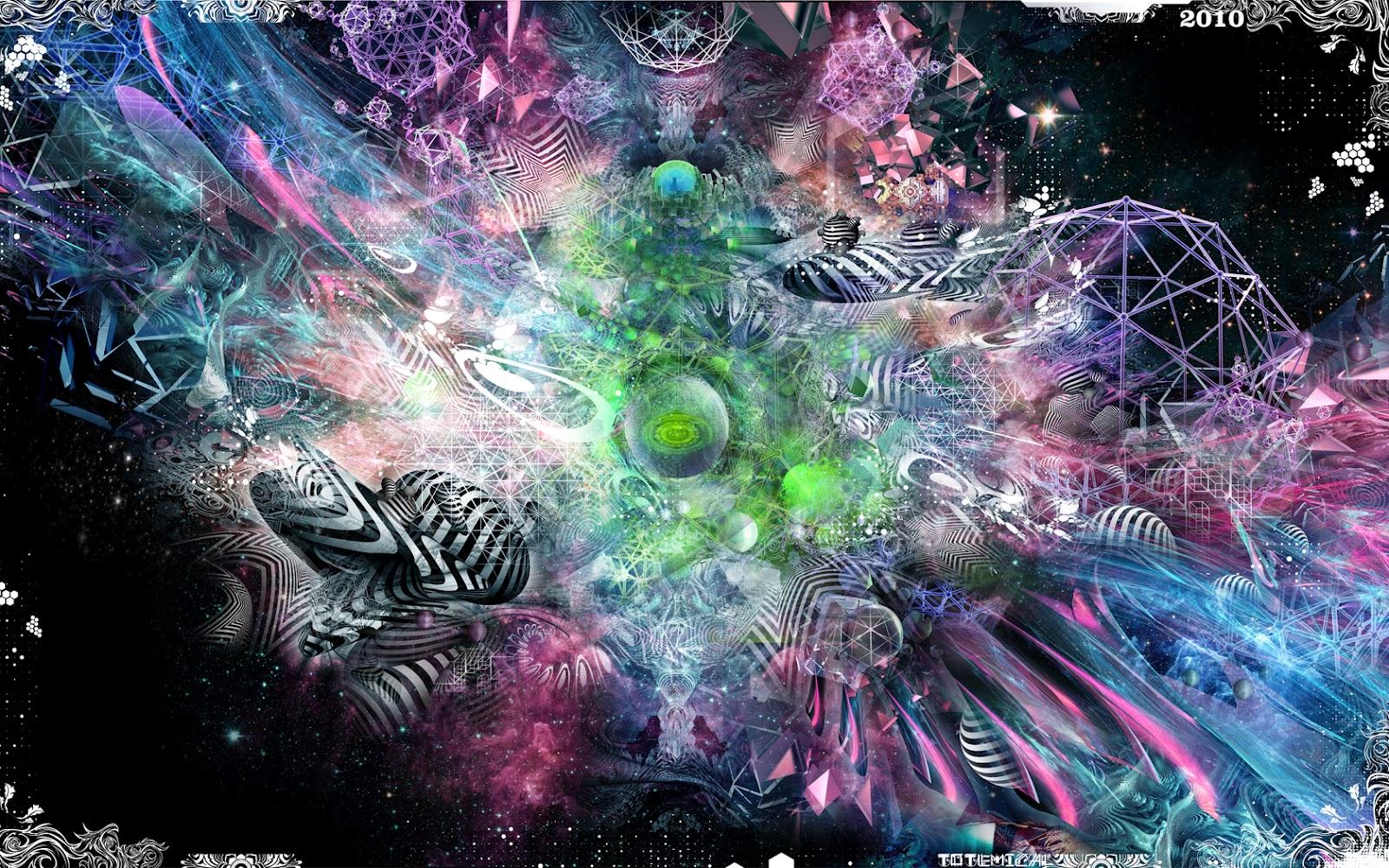Galaxy Trippy Psychedelic Art Wallpaper Desktop Hd 1600 X 1000