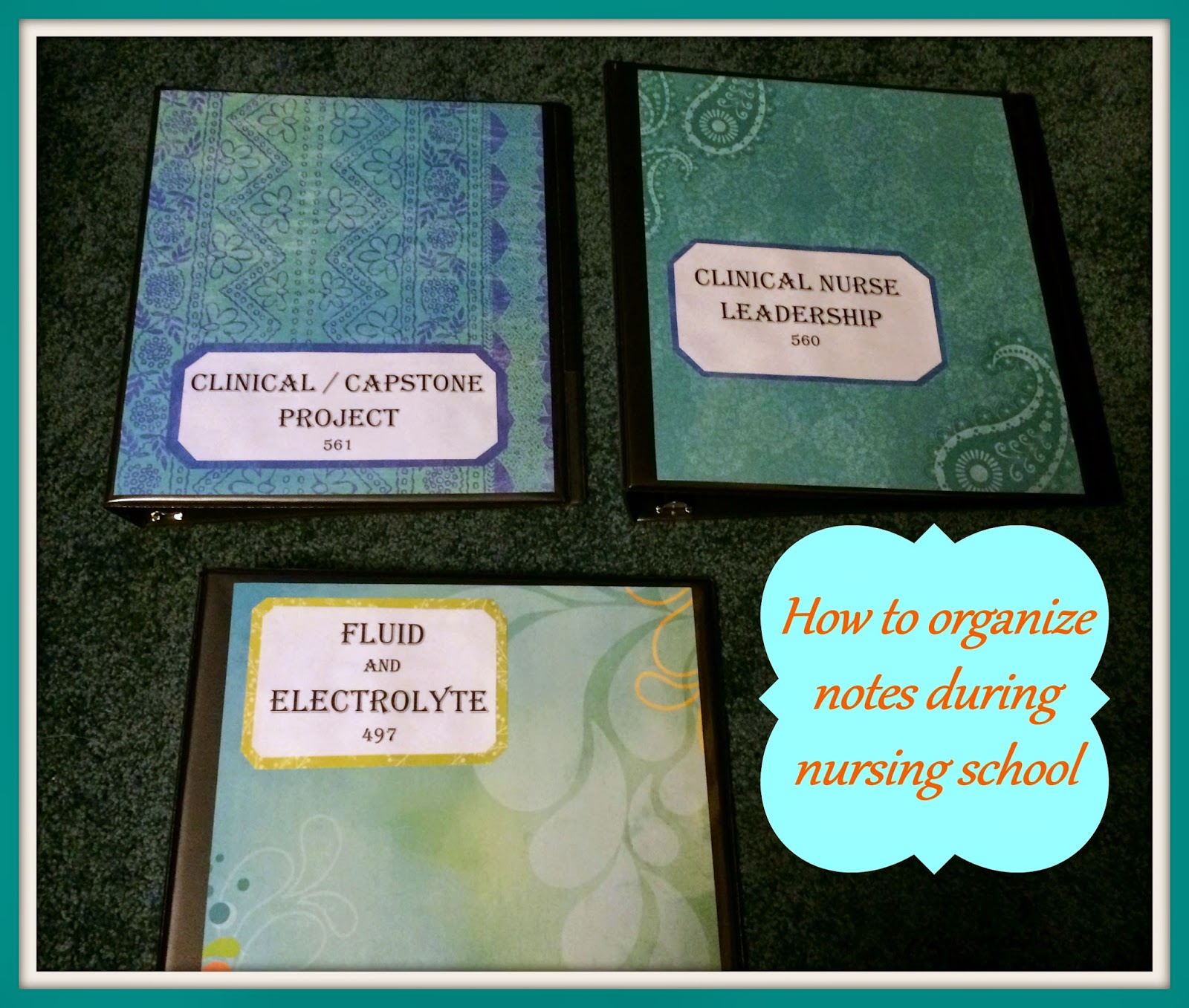Nurse Nightingale: How To Organize Notes During Nursing School